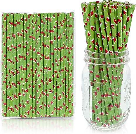 Party Favor Cake Pop Sticks OrangeBright Green Paper Straw Mix Party Decor Supply