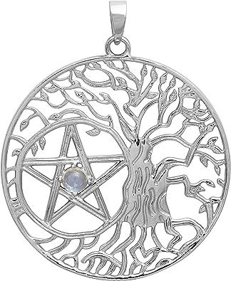 Tree-of-Life Necklace Silver Gold Family Tree Charm Star of David Tree-of-Life Coin Necklace Arbol de la Vida Tree-of-Life Pendant