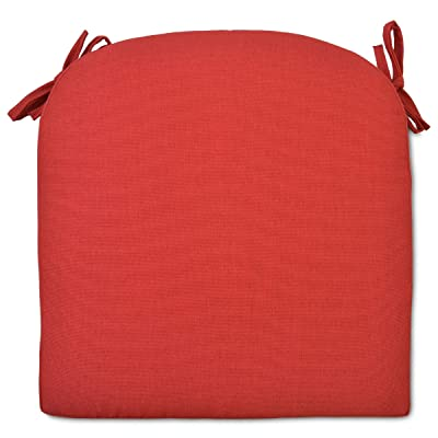 Overstock Round Back Outdoor Seat Cushion Red : Garden & Outdoor