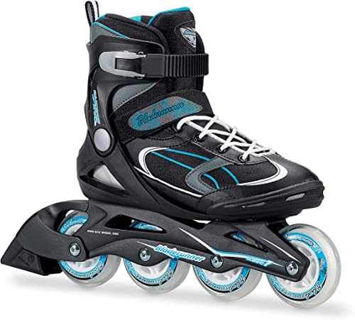Bladerunner by Rollerblade Advantage Pro XT Women s Adult Fitness Inline Skate, Black and Light Blue, Inline Skates