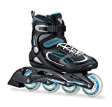 Bladerunner by Rollerblade Advantage Pro XT Women's Adult Fitness Inline Skate, Black and Light Blue, Inline Skates, Black/Light Blue, Size 9