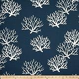 Premier Prints Isadella Coral Slub Premier Navy Fabric By The Yard