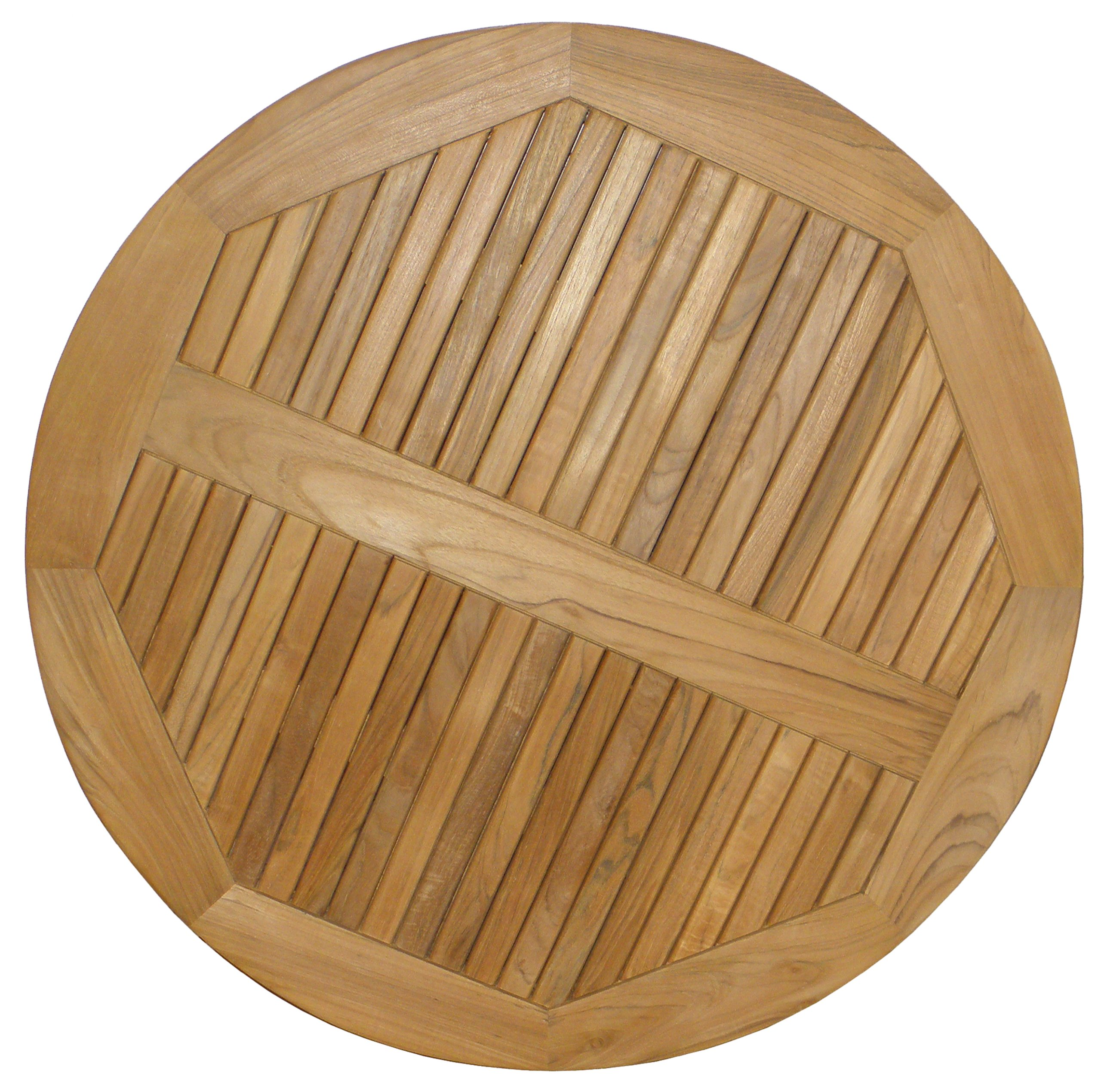 ATC Teak Wood Round Table Top, 36'' D