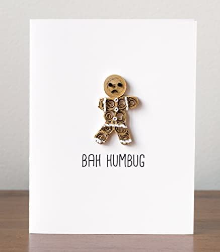 funny christmas card bah humbug anti christmas card funny holiday card gingerbread christmas