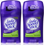 Lady Speed Stick Deodorant 1.4 Ounce Powder Fresh Invisi Dry (41ml) (2 Pack)