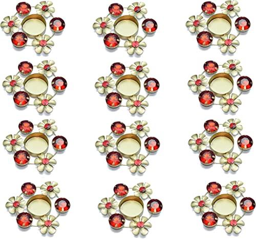 Set of 12 pc Diwali Diya Gift / Decoration Beautiful Candle Tea Light Holder