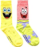 Hyp Spongebob Squarepants and Patrick Men's Crew Socks 2 Pair Pack