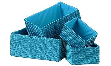 Bon Premier Housewares Storage Baskets   Turquoise, Set Of 4: Amazon.co.uk:  Kitchen U0026 Home