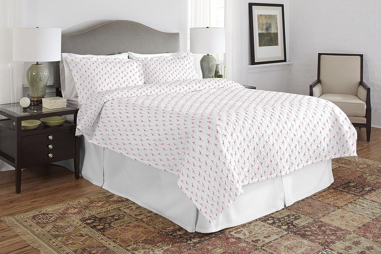 Pointehaven 200FLAMGQSTT Quilt Set Twin/Twin XL Flamingos
