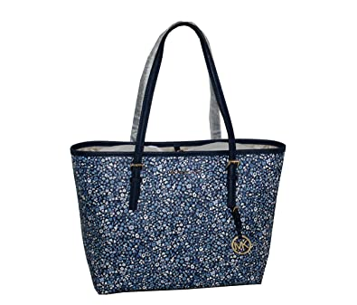 6a3960aafee2 Image Unavailable. Image not available for. Color  MICHAEL Michael Kors  Women s Jet Set Travel MEDIUM Leather Carry All Tote Handbag ...