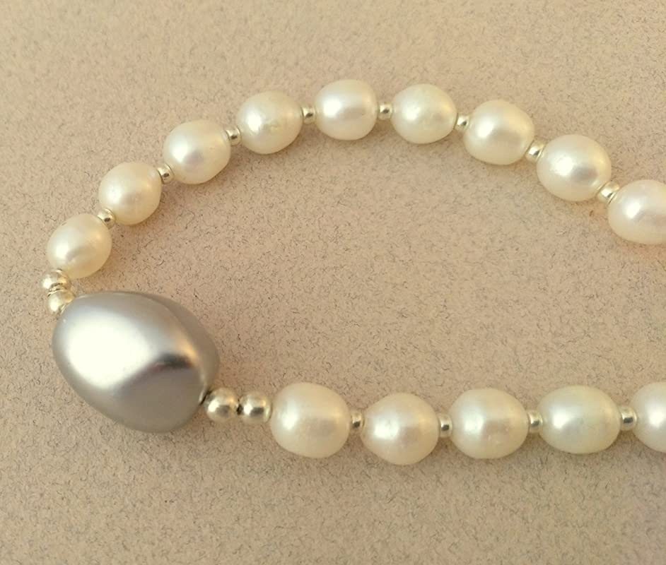 bien fuera x precio asombroso excepcional gama de colores collar de perlas cultivadas y perla pacifico: Amazon.es ...