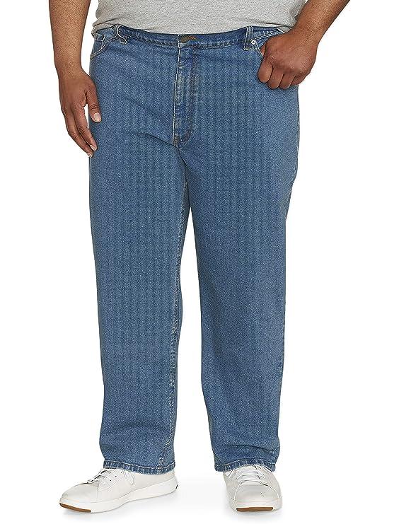 Amazon Essentials Men's Big & Tall Relaxed-Fit Stretch Jean, Light Wash 60W x 34L