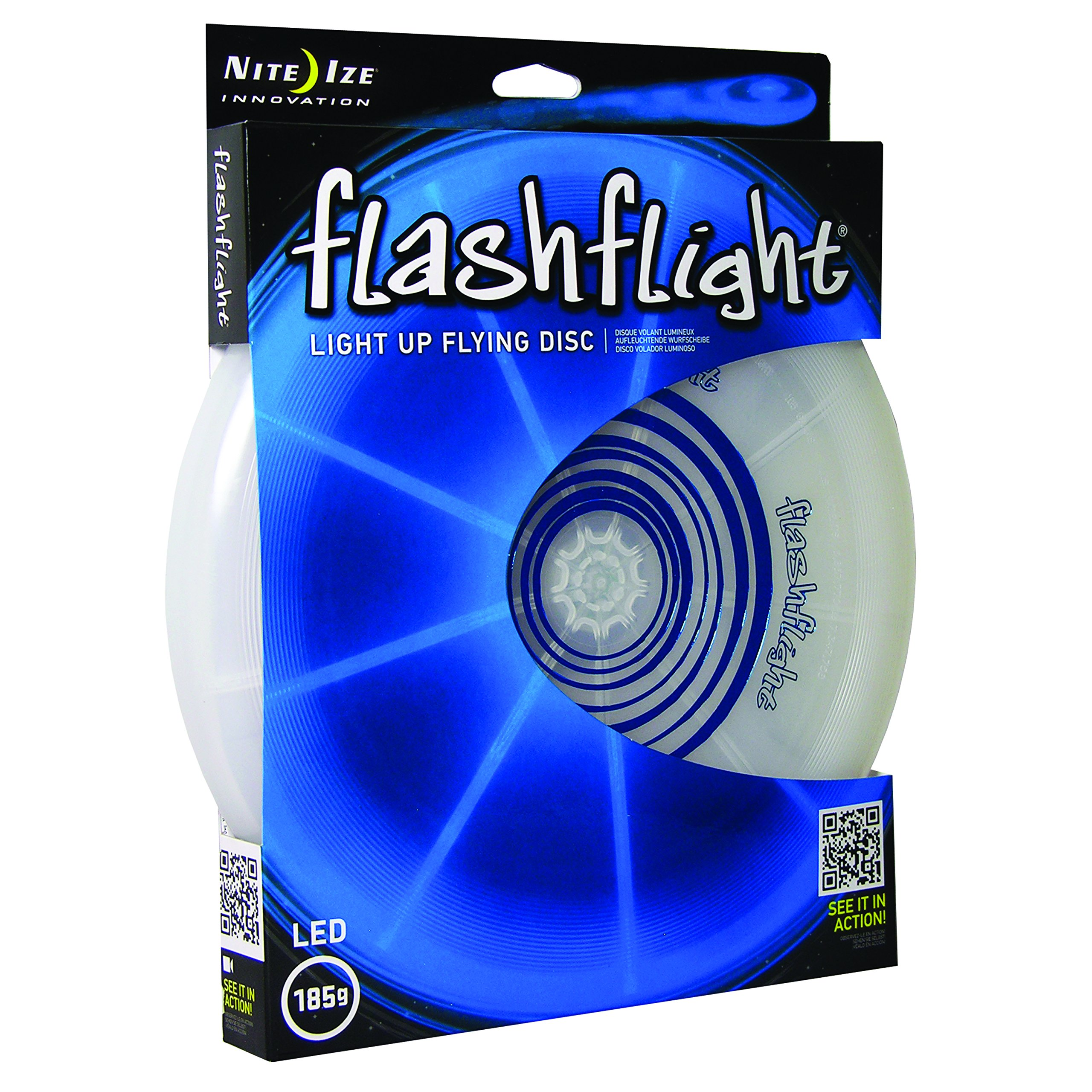 Nite Ize Flashflight LED Flying Disc, Light up the Dark for Night Games, 185g, Blue by Nite Ize