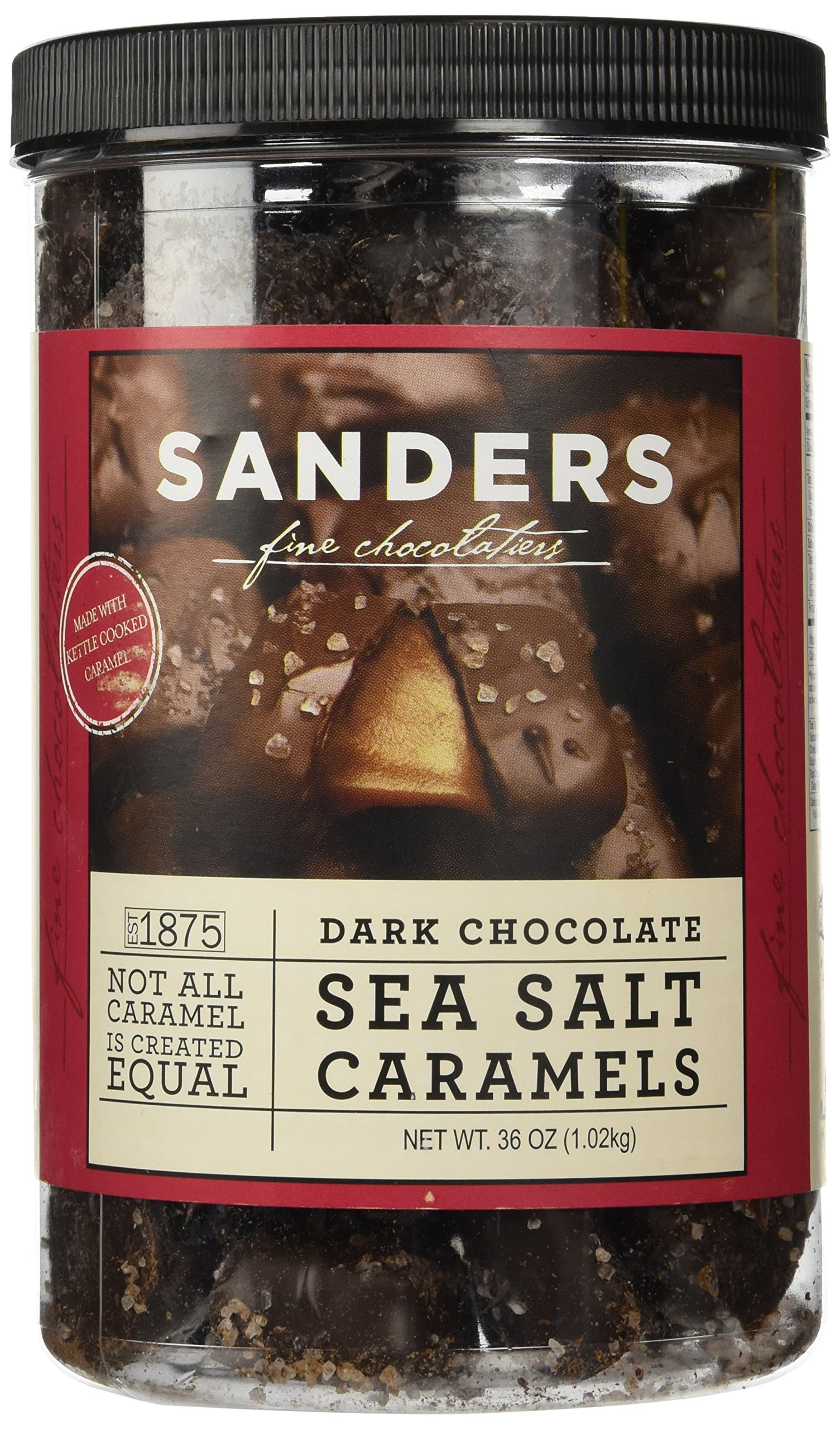 Sanders Dark Chocolate Sea Salt Caramels - 36 ounces (2.25 pounds) by Sanders® (Image #1)