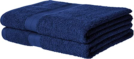 AmazonBasics Fade-Resistant 6-Piece Cotton Towel Set
