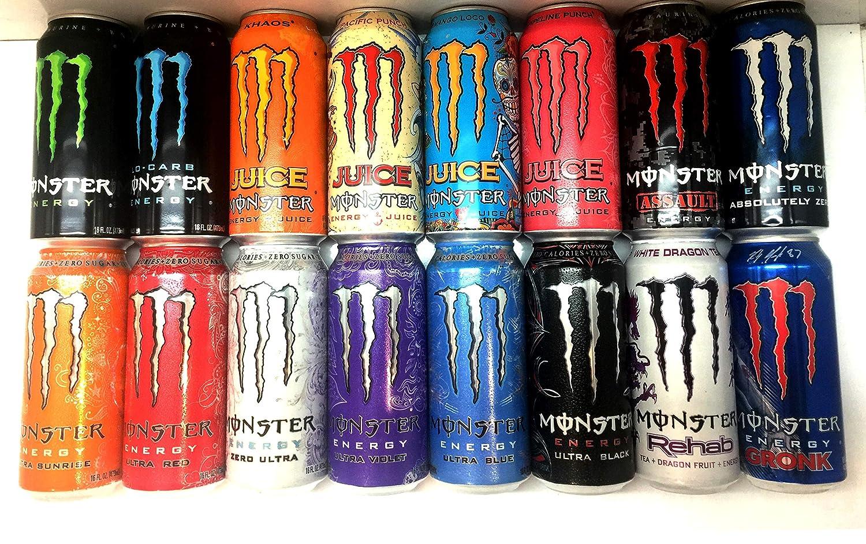 Amazon Com Monster Energy Drink Variety Pack 16 Pack Grocery Gourmet Food