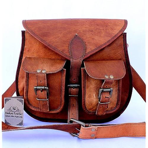 VENTA 2019 Último DíA Auténtico vintage Piel bolso de bandolera hecho a mano para mujeres con bolsillos frontales 10 x 13 pulgada 100 cuero puro con envío gratis