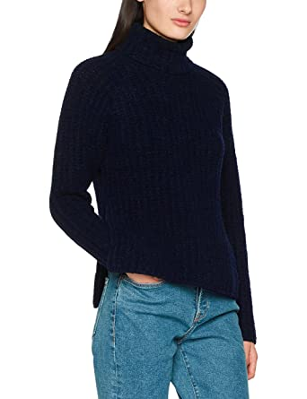 Libertine Libertine Bley, Pull à Col Roulé Femme, (Dark Navy 4), 34 (Taille Fabricant: X-Small)