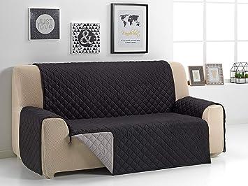 Martina Home Martina Dual Cover Cubre sofá Acolchado Reversible, Beige/Marrón, 2 Plazas