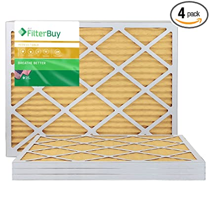 .com: filterbuy 24x24x1 merv 11 pleated ac furnace air filter ...