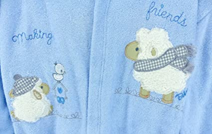 Baby erstausstattung Juego: Albornoz Toalla con capucha Guantes Cinturón Biberon con animales Diseño de Oveja de 100% algodón I Poncho de baño Chica Joven ...