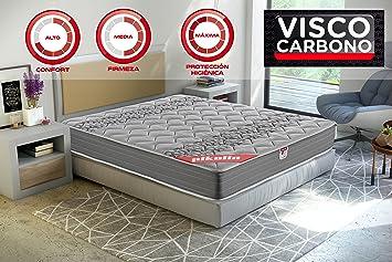 Pikolin Egeo - Colchón viscoelástico carbono de gama alta, máxima calidad y confort, firmeza media, altura 24 cm, 160 x 200 cm: Amazon.es: Hogar