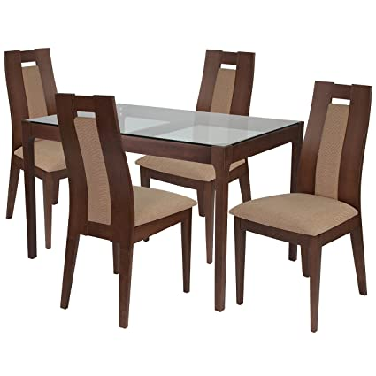Flash Furniture Bishop 5 Piece Walnut Wood