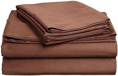 Superior - Juego de sábanas 168 x 203 cm, de algodón de 400 Hilos, Color Rojo Burdeos Liso, 4 Piezas: Amazon.es: Hogar