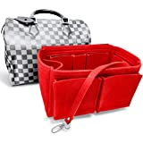 LV Purse Organizer for Speedy 30 35 40, by AlgorithmBags, Red Brown