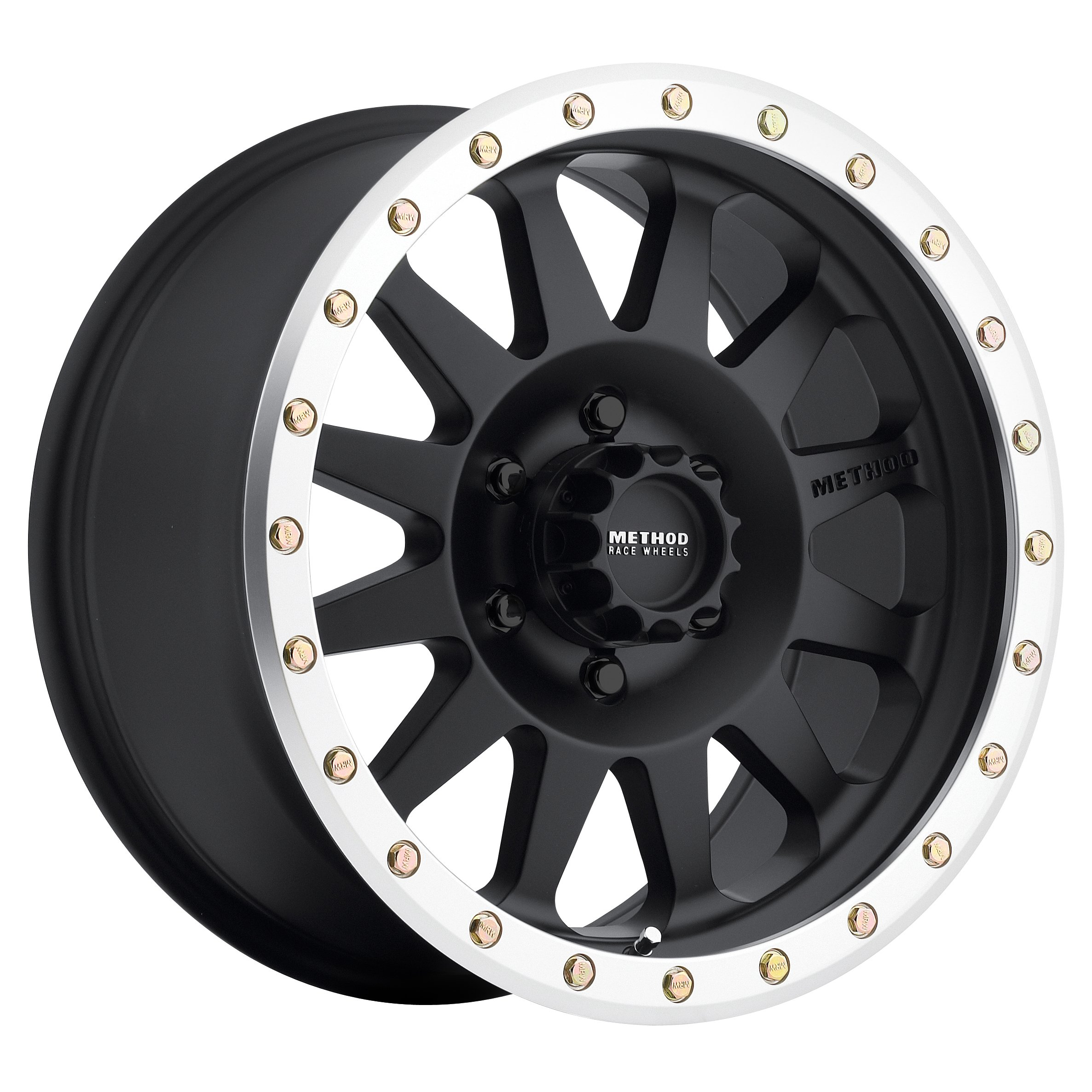 Method Race Wheels Double Standard Matte Black Wheel with Machined Lip (16x8''/5x5'') 0 mm offset