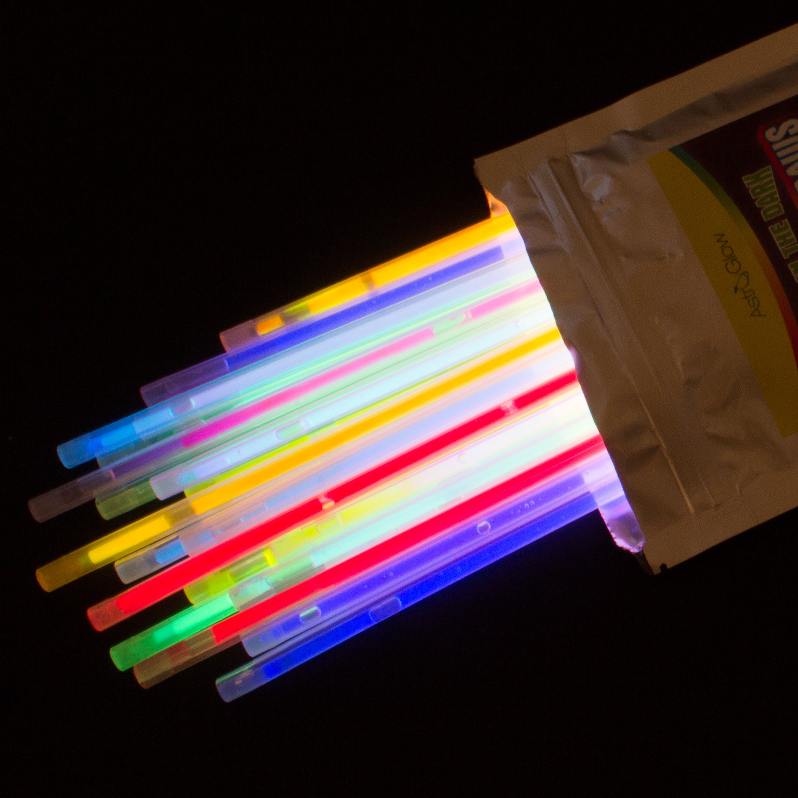 Astro Glow - Glow In The Dark Drinking Straws - 25 Pack - 9 Bright Assorted Colors - Glows up to 8 hours - Guaranteed Satisfaction - Perfect Glow Straws For Any Party by Astro Glow