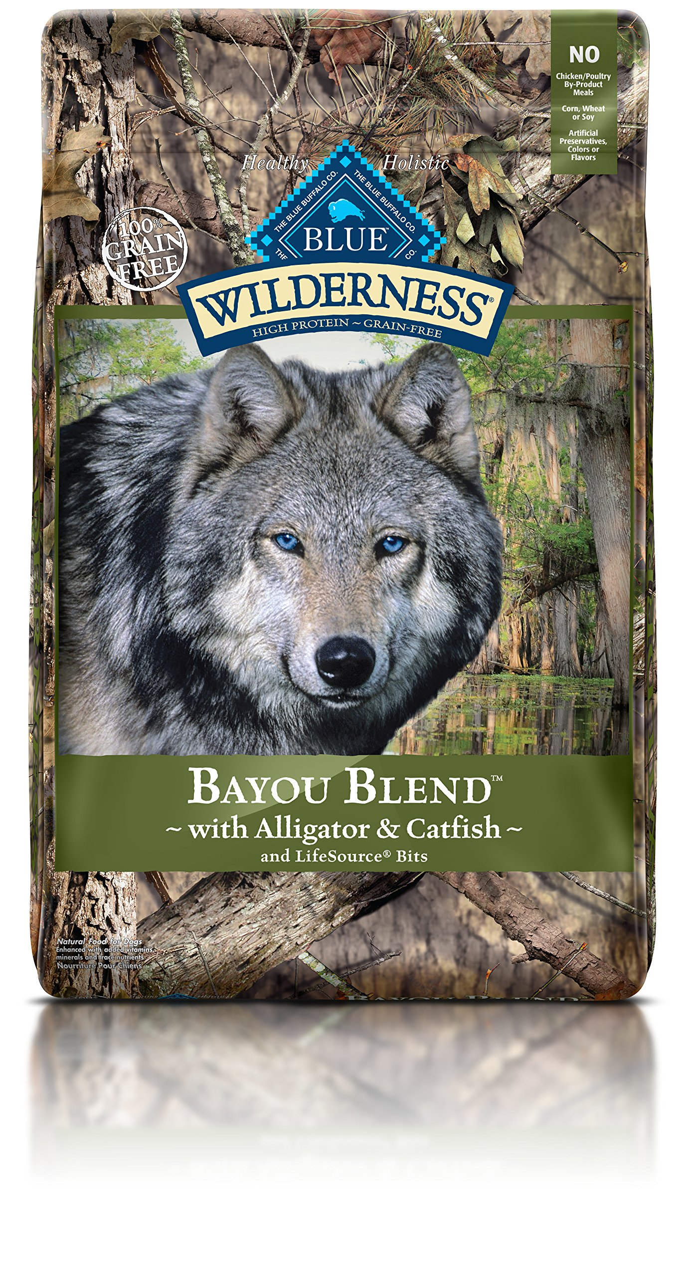 Blue Buffalo Wilderness High Protein Dry Adult Dog Food Bayou Blend 22 LB