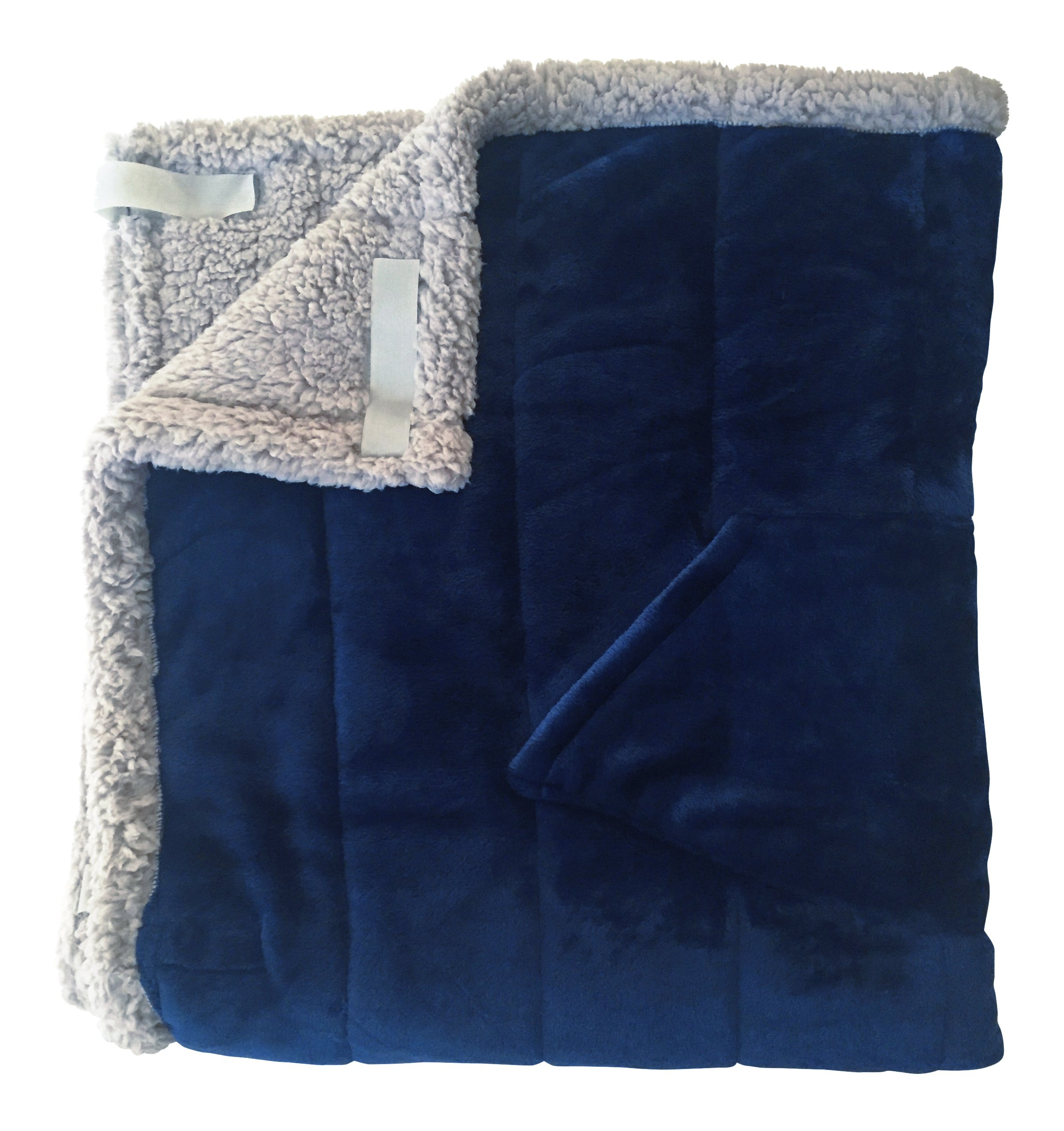 Granny Jo Products Heavyweight Wheelchair Blanket, Navy Face/Grey Back by Granny Jo Products