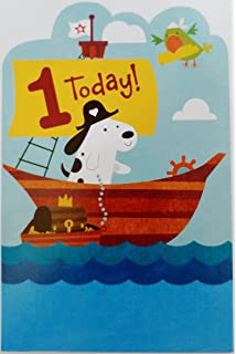 Set Sail For A Happy First 1st Birthday Greeting Card