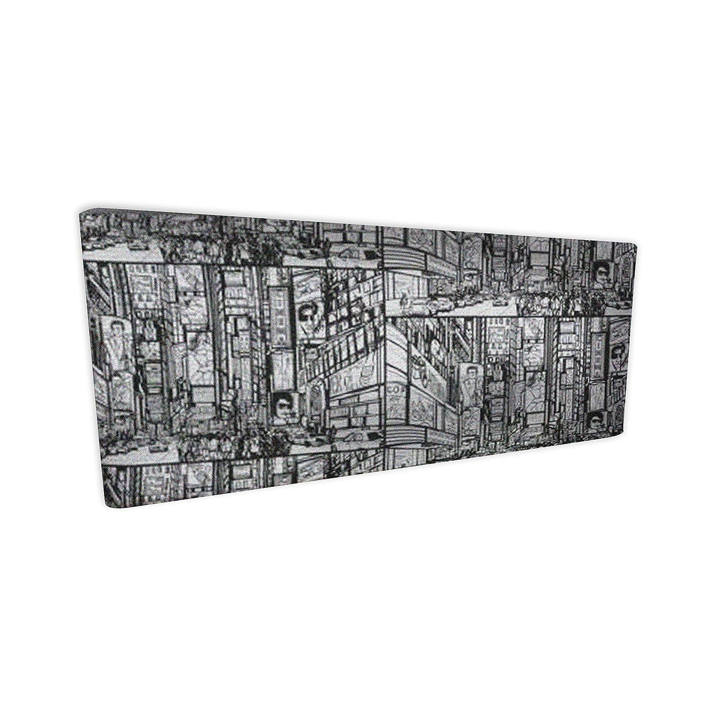 Suenoszzz New York Kopfteil für Betten mit 90 cm cm cm 160 x 120 cm Weiß   Schwarz 82da73