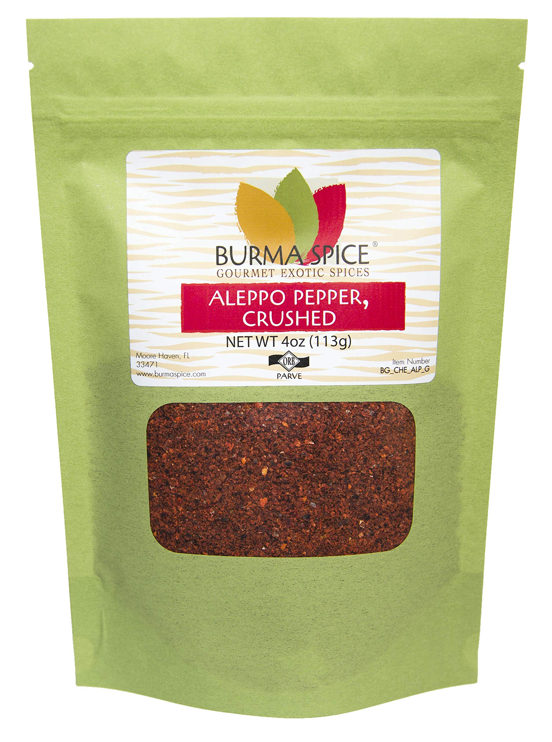 Aleppo Pepper : Crushed Seasoning Spice Flakes : Middle Eastern and Mediterranean Cuisine : Kosher Certified (4oz)