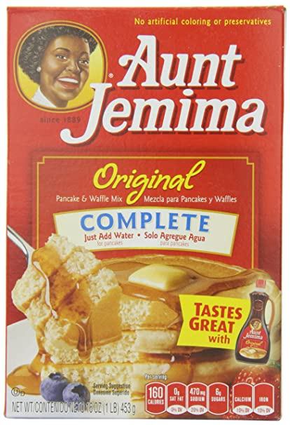 Aunt Jemima Pancake & Waffle Mix, Original, 16-Ounce (Pack of 12)