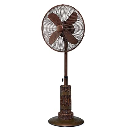 Designer aire oscillating indoor outdoor standing floor fan for cooling your area fast 3