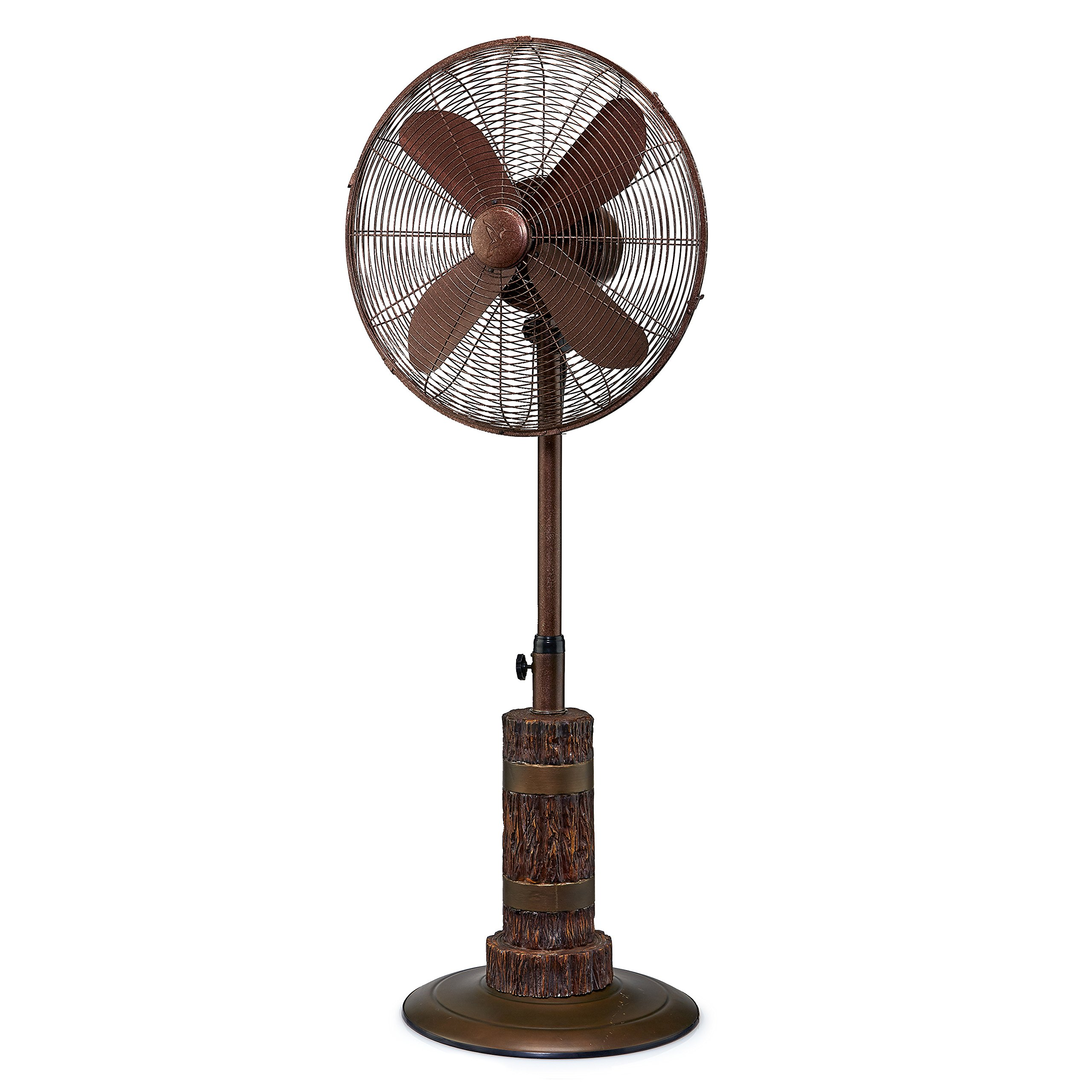 Designer Aire Indoor and Outdoor 18'' Standing Pedestal Fan - Beautiful Style Keeps You Cool All Year Round (Aspen)