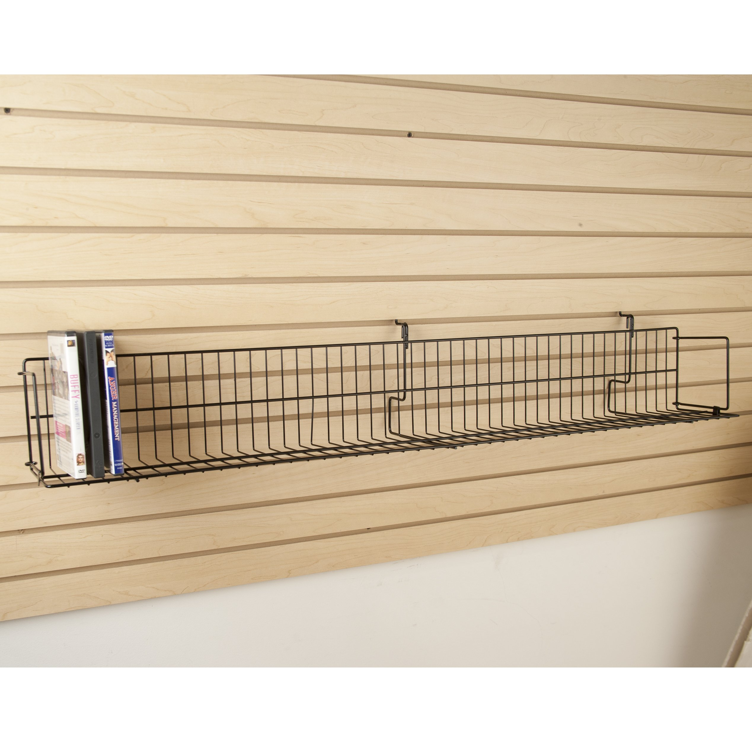 ExecuSystems 48'' Wide Video Shelf for Slatwall, Gridwall or Pegboard - Box of 6 by Unknown (Image #2)