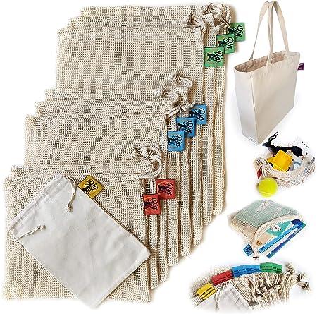 Amazon.com: Big A Reusable Produce bolsas de malla de ...