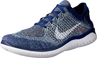 Nike Free RN Flyknit 2018, Zapatillas de Atletismo para Hombre, Multicolor (Blue Void/White/Blue Tint/Red Orbit 402), 40 EU: Amazon.es: Zapatos y complementos