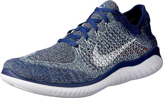 Nike Free RN Flyknit 2018, Zapatillas de Atletismo para Hombre, Multicolor (Blue Void/White/Blue Tint/Red Orbit 402), 47.5 EU: Amazon.es: Zapatos y complementos