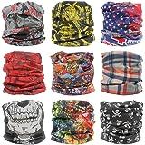 9Pcs Multifunctional Magic Scarf Headband Bandana Versatile 16-in-1 Lightweight Sports & Casual Headwear -Neck Gaiter Balaclava Helmet Liner Face Mask
