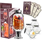 Complete Cocktail Shaker Infuser Set, Active Infusion, Be an Infused Alcohol Cocktail Mixologist using the 10 Homemade Flavored Recipes + 4 Round Ice Ball Molds, Best Home Bar Kit, a Party Must Have!