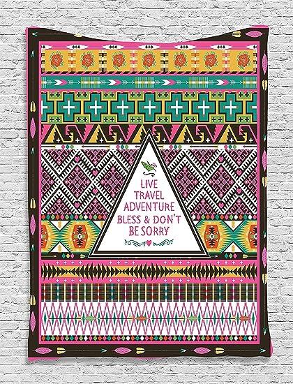Ethnic Tribal Decorations Travel Adventure Boho Hippie Decor Bedroom Living  Room Dorm Wall Hanging Tapestry,