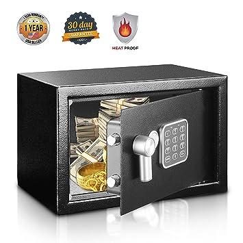 Amazon.com: SereneLife Caja de seguridad y cerradura – Caja ...