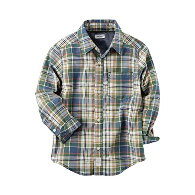 Carter's Baby Boys' Long Sleeve Plaid Button Front Shirt
