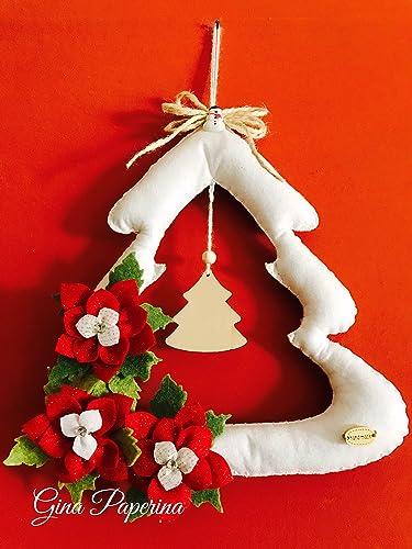 Regali Di Natale In Pannolenci.Albero Di Natale In Pannolenci Amazon It Handmade
