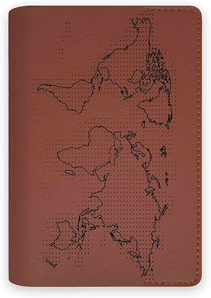 Funda Porta Pasaporte Documentos de Viaje con Mapa del Mundo para ...